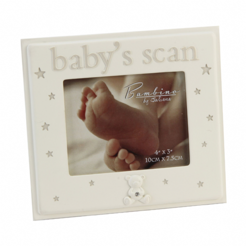 Baby's Scan Cream Resin Photo Frame
